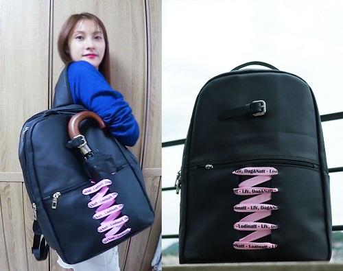 박규리 셀캠에 등장한 여자백팩