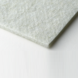 Green needle-punched polyester felt