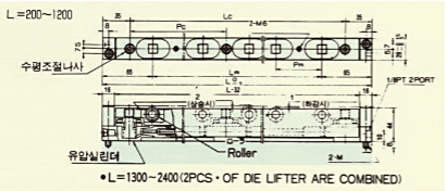 L=1300 ~ 2400 (2 PCS OF DIE LIFTER ARE COMBINED)