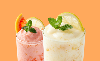<strong>유자몽 요거트 스무디 & 유자 요거트 스무디</strong><br>Citron-Grapefruit Yogurt Smoothie<br>& Citron Yogurt Smoothie