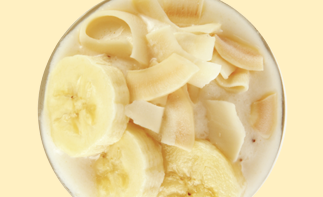<strong>코코넛 바나나 스무디</strong><br>Coconut-banana Smoothie