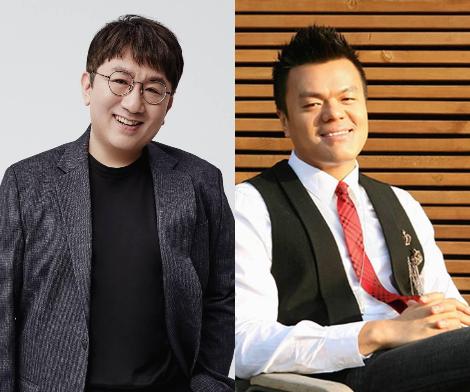 어릴 적부터 많은 영감이 되고 있는 두 인물 방시혁 (좌), 박진영 (우). 의준님은 향후에 어떤 모습이 될지!