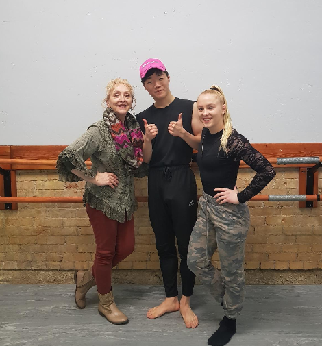 with Tresa Anderson (Left), Charity Anderson (Right) at Charisma Dance  Studio @Springville, Utah