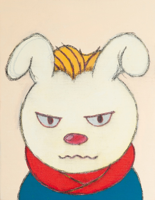 Usagi san-Rabblt acrylic on canvas 18X14cm 2019