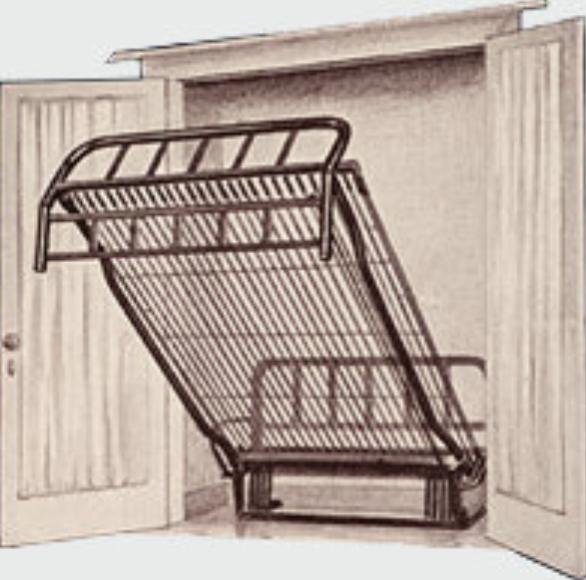 William L. Murphy가 손님 대접을 위해 방 1 개짜리 아파트에 공간 절약용으로 만듬 (이미지 제공 : Murphy Bed Co.)