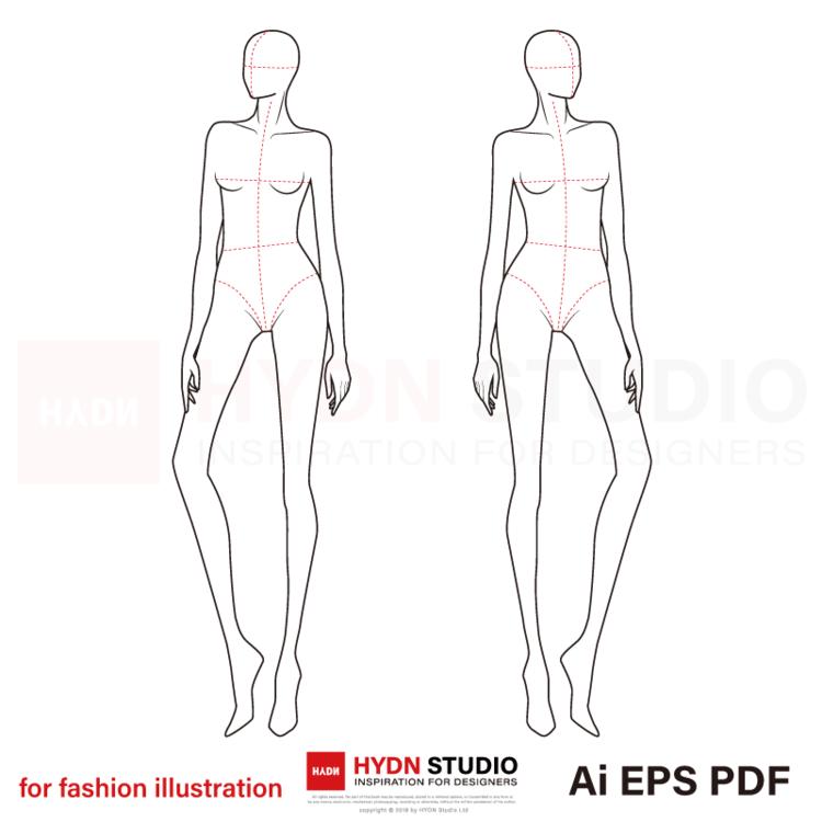 Fashion Body Figure Templates