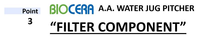 Biocera aa jug filter component