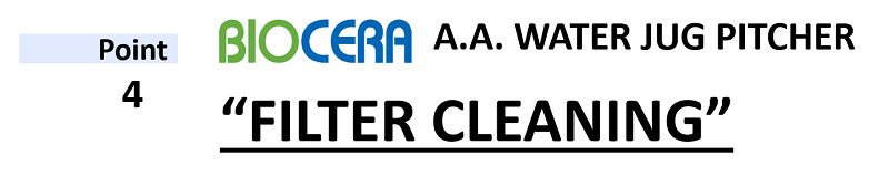 Biocera aa jug filter cleaning