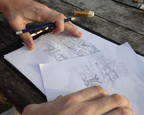 세계지도 브랜드 어썸맵스 수석디자이너 아이디어 스케치