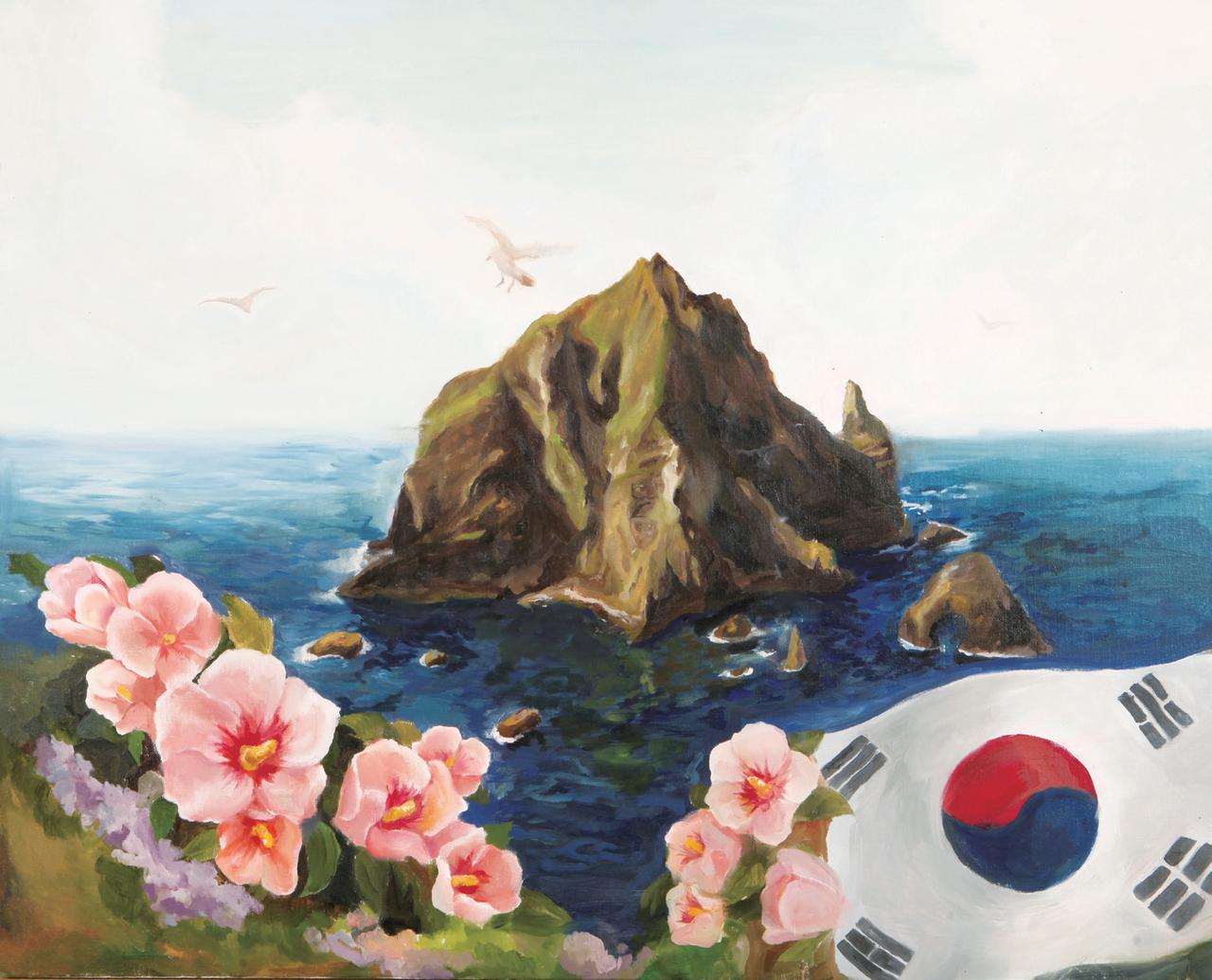 조인영 (서양화)-무궁화 태극기 그리고 동해바다 독도