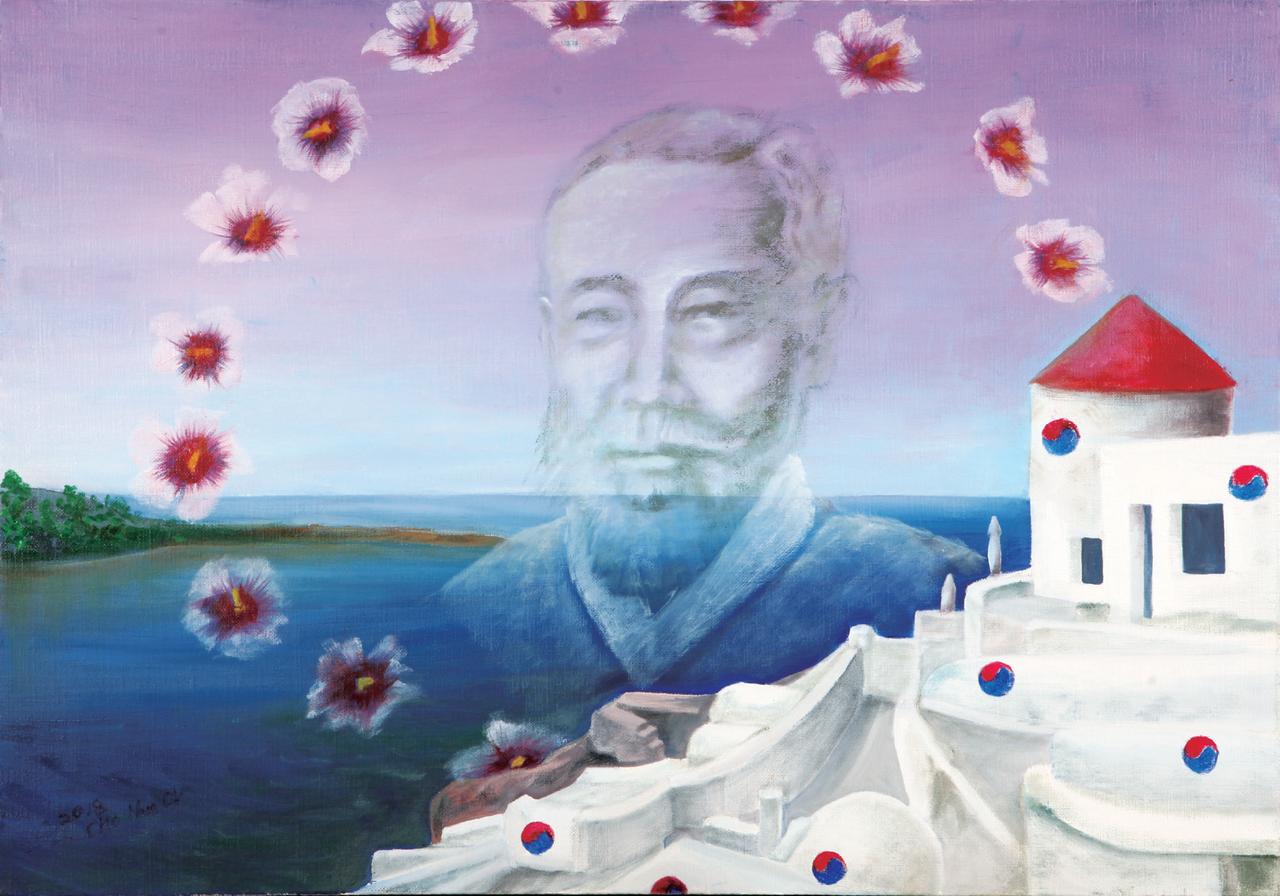 조남옥 (서양화)-남궁억 애국지사와 무궁화 영상