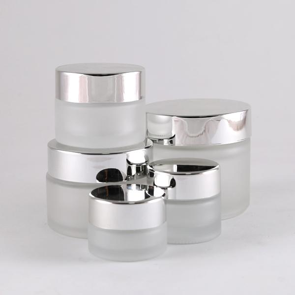SILVER CREAM JAR