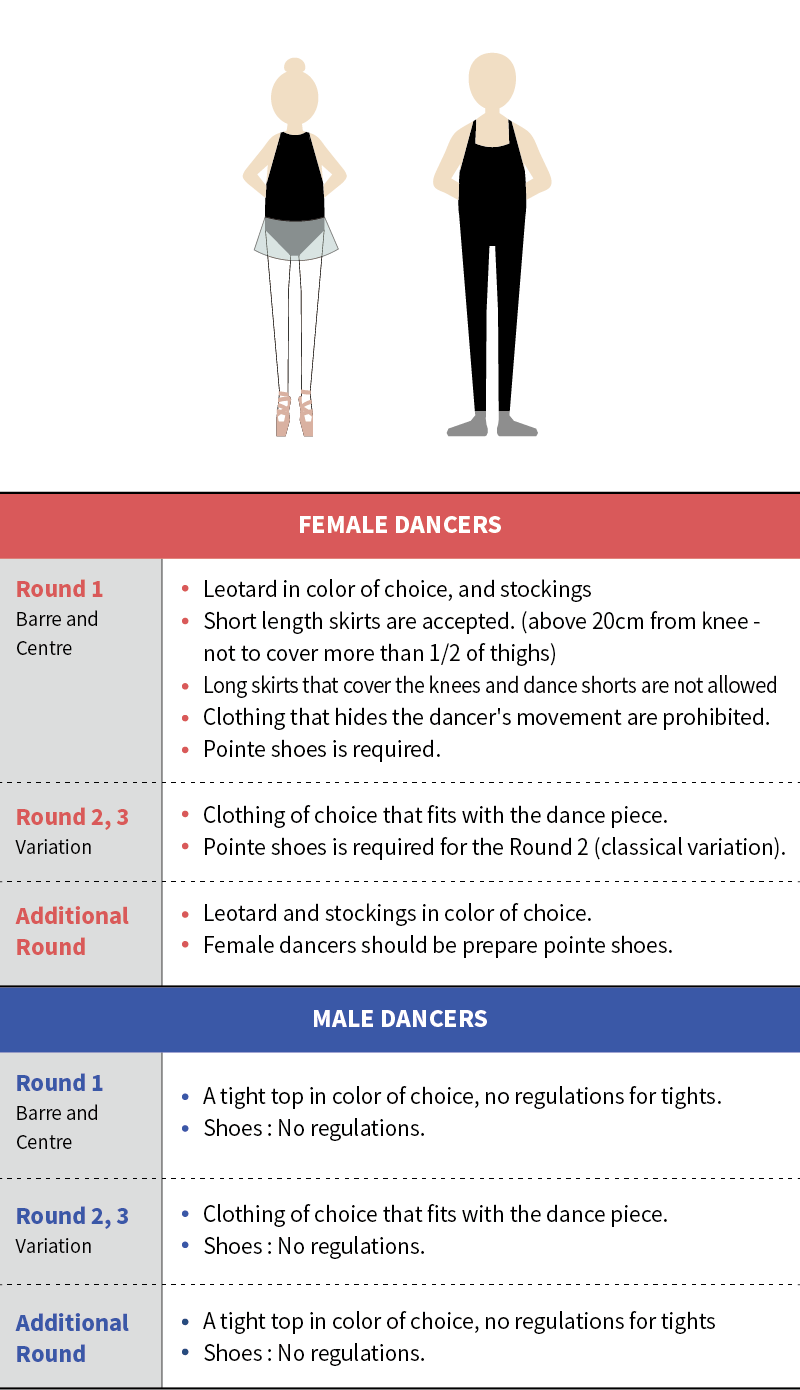 2020 Asia Dance Audition-Dress code.