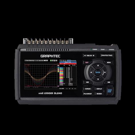 GRAPHTEC GL240 midi logger multi channel 메모리 하이코더