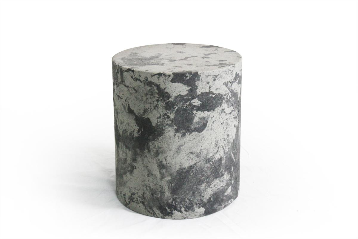 콘크리트 원형 마블 스툴