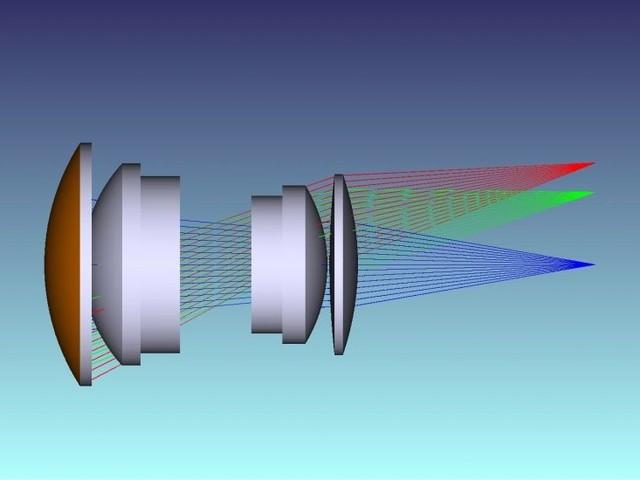 광학 디자인 (투사 렌즈) Optical Design (Projection Lens)