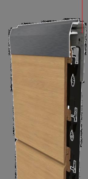 어뎁터는 클립클래드 트림 프로필과 함께 사용하도록 특수 디자인되었습니다. 이 어뎁터들은 트림 프로필이 클래딩 프로젝트에 쉽고 효율적으로 설치 되도록 하여 보다 세련된 마감 룩을 만듭니다.