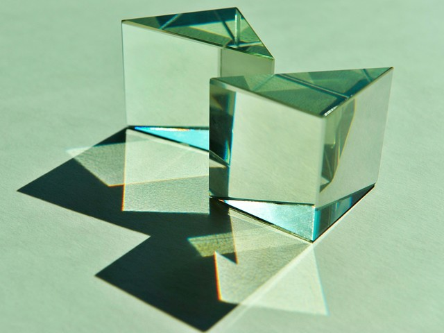Prism with reflective Mirror