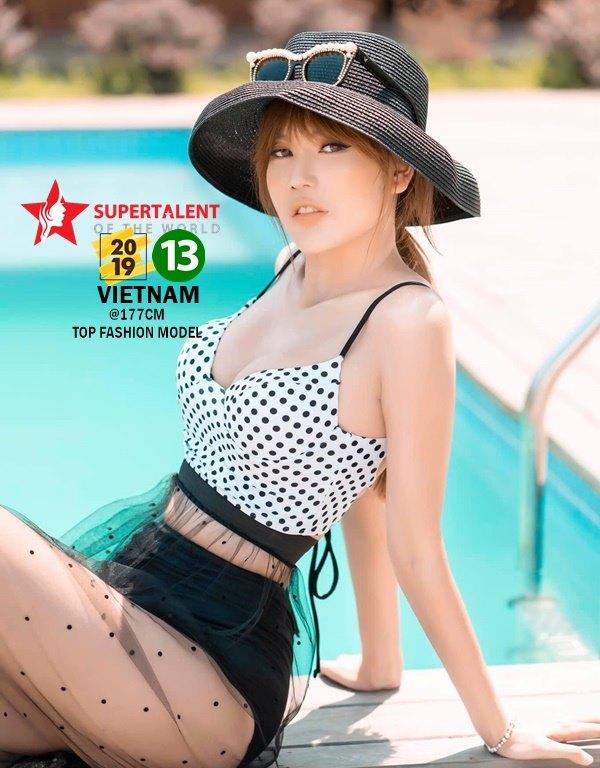 2019 Miss Supertalent VIETNAM Season 13<br>DUYEN HOANG, 177 cm, Age 24