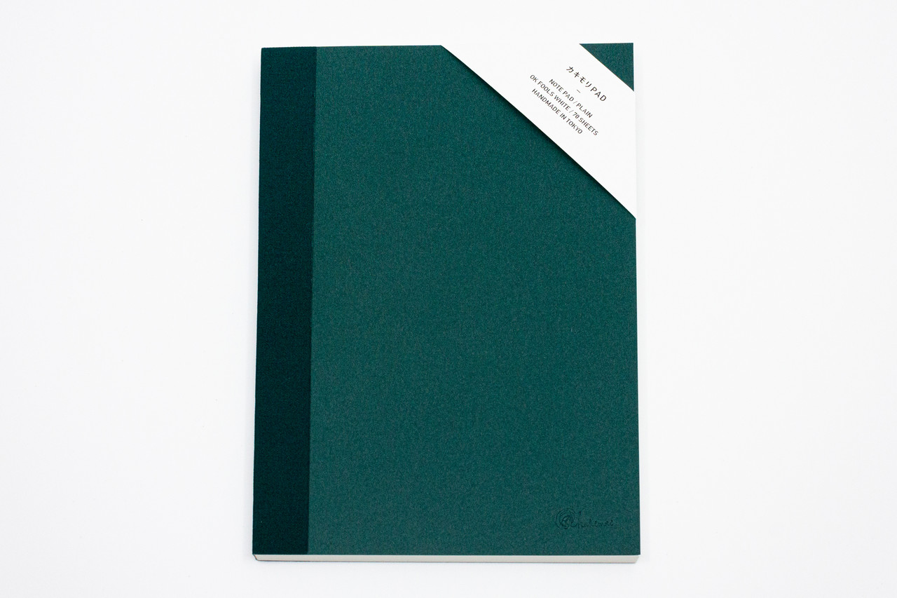 "<p style=""font-family: freight-neo-pro, sans-serif; font-weight: 400; font-style: normal; color: black;"">kakimori spread A5 notepad plain green</p>"