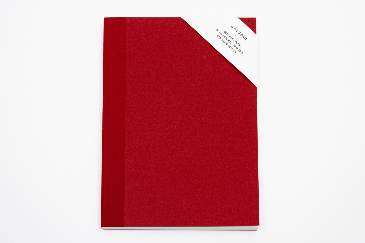 "<p style=""font-family: freight-neo-pro, sans-serif; font-weight: 400; font-style: normal; color: black;"">kakimori spread A5 notepad plain red</p>"