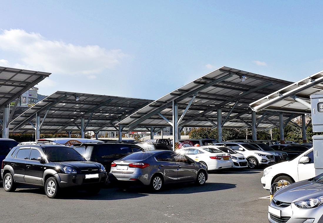 주차장태양광 발전소 예시