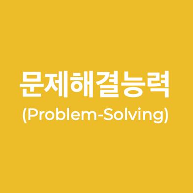 문제 해결 능력(Problem-Solving)