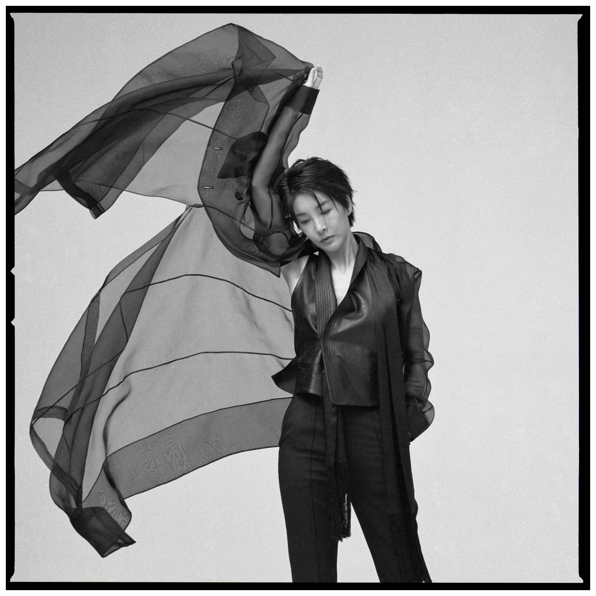 Edition-1 Faux Leather Vest in Maps Magazine February issue