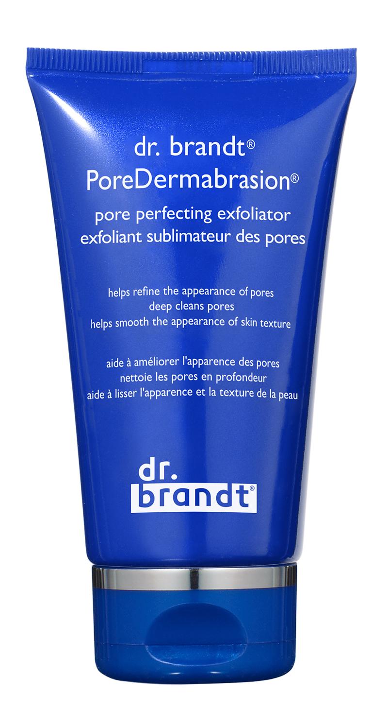 <b>닥터브랜트 더마브레이션<br>포어 퍼펙팅 엑스폴리에이터</b><br>단 몇 분만에 피부를 매끈하고<br>윤기있게 관리해주는 최상의 각질 관리제