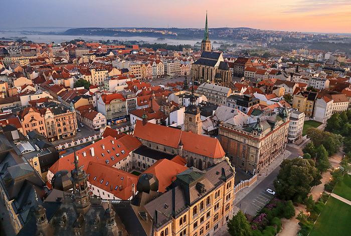 체코 DJKT 발레단이 위치한 체코 플젠(Pilsen)의 전경