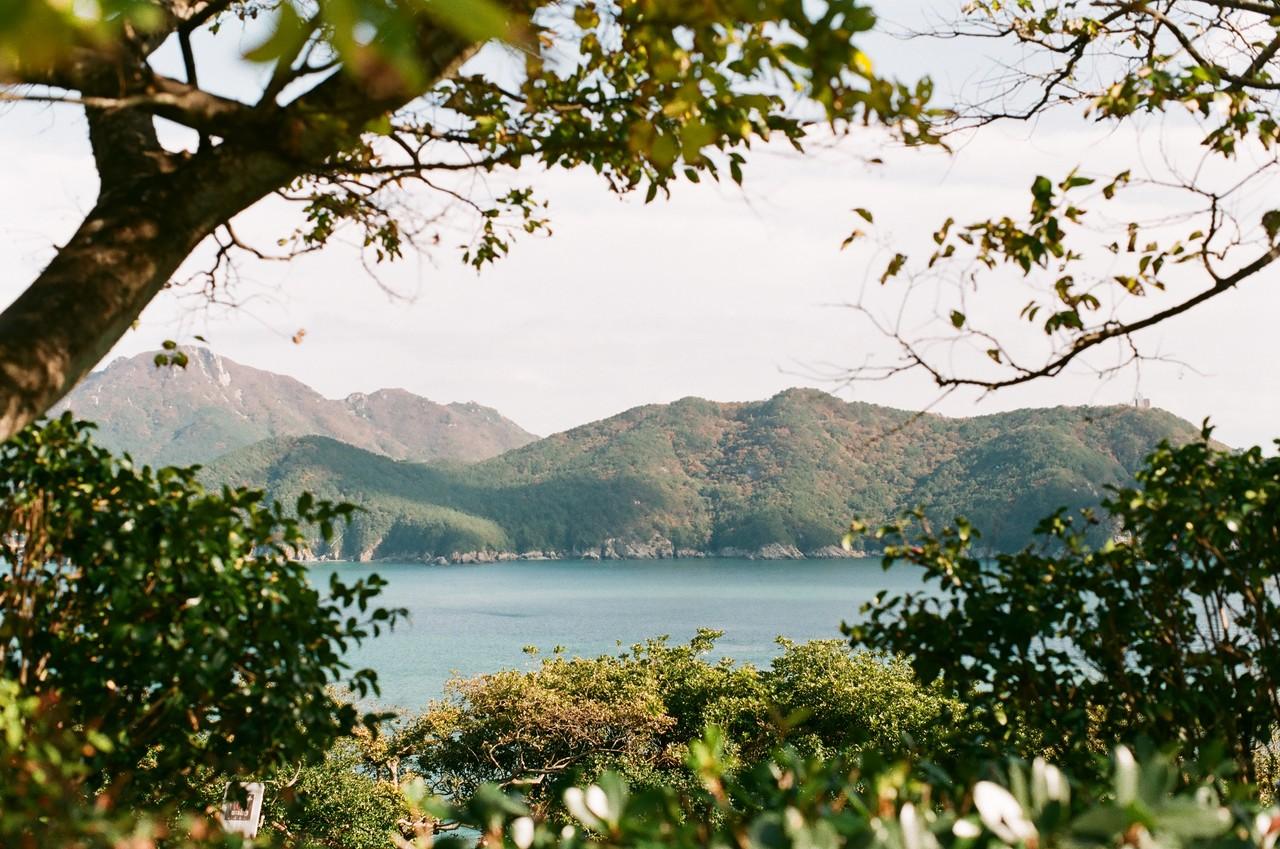 #3. 소매물도의 바다가 청색, 비진도의 바다가 녹색이라면 장사도의 바다는 둘이 섞여 자아내는 오묘한 청록색이다. 청색과 녹색을 오가며 바뀌는 물빛이 신비롭고 비밀스러운 이 섬과 잘 어울린다.
