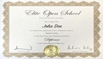 미국 엘리트오픈스쿨 고등학교 졸업장