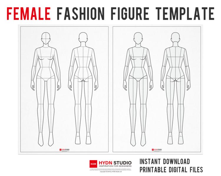 Female Fashion Figure Template For Fashion Illustration Fashion Flat Sketch Apparel Design Fashion Flats Fashion Illustration Fashion Template Hydnstudio Fashion Design