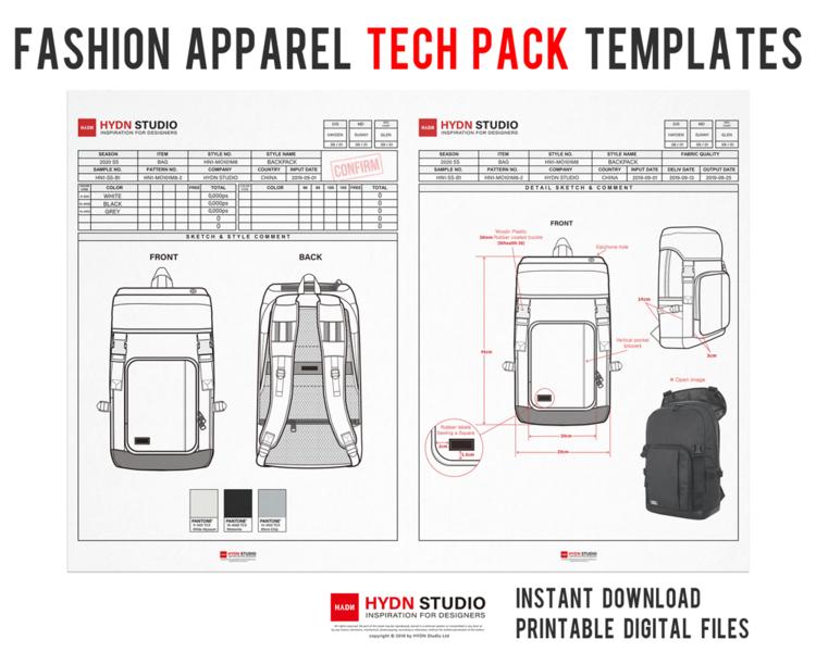 Fashion Apparel Tech Pack Templates Excel Template A4 Size Fashion Template Fashion Clipart Digital Prints Apparel Design Fashion Flats Fashion Illustration Fashion Template Hydnstudio Fashion Design