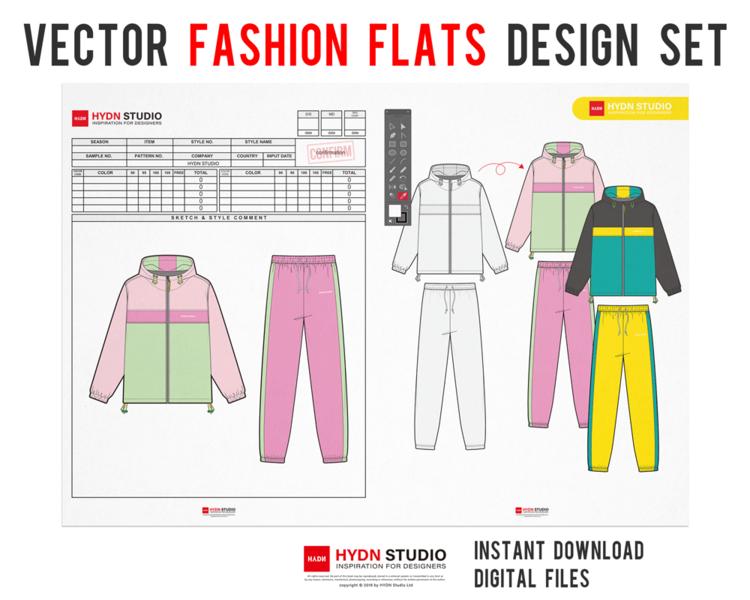 70page Mega Bundle Fashion Flats Design For Apparel Design Fashion Flats Fashion Illustration Fashion Template Hydnstudio Fashion Design