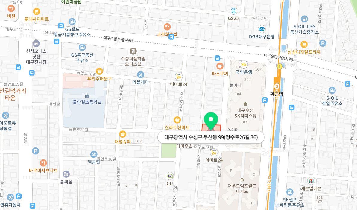 < 지도를 클릭하시면 상세 위치를 확인할 수 있습니다.>