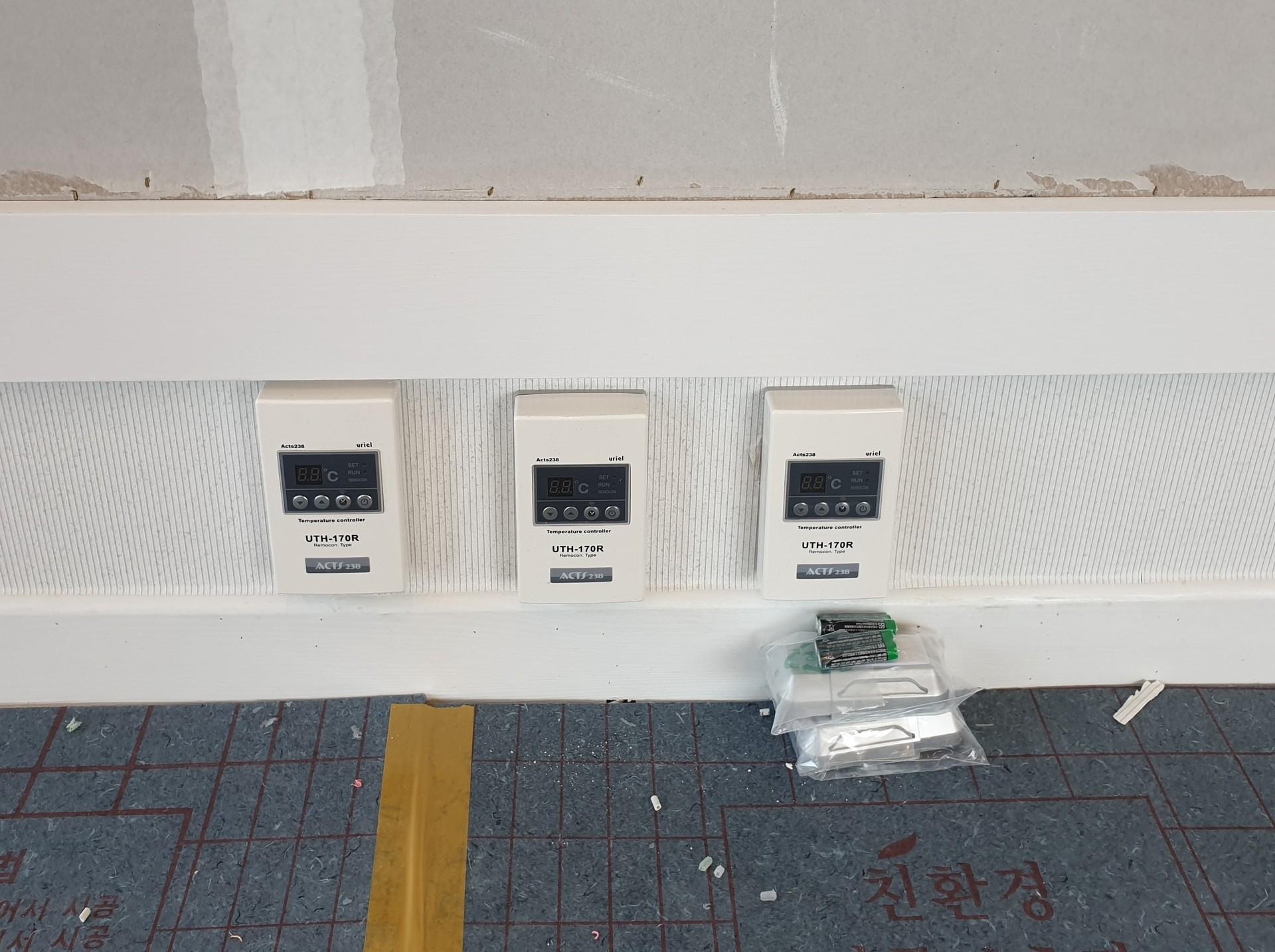 6)온도조절기 설치