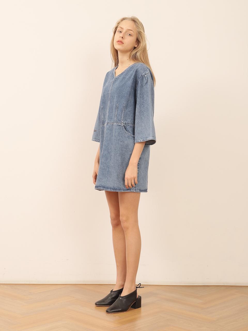 Organic denim dress