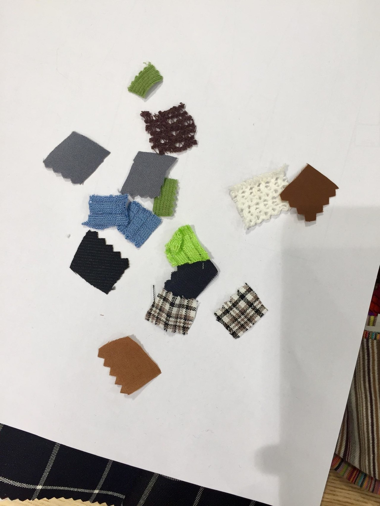 Small pieces of fabric