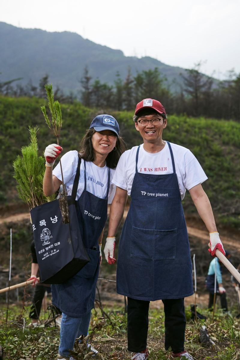 강원도 산불피해지역 나무심기 2019