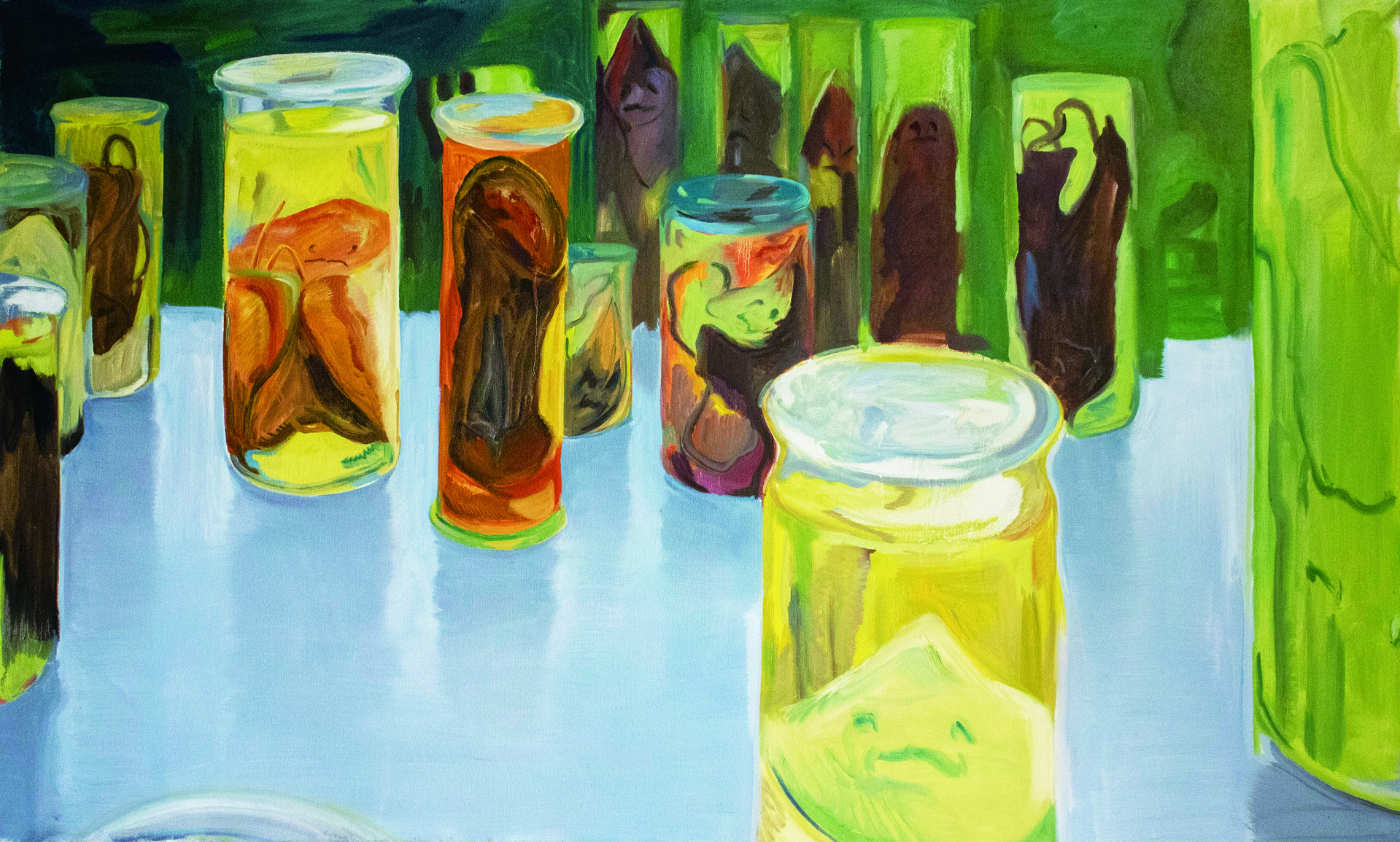 """""""Specimens"""" / 68""""x41"""" / Oil on canvas"""