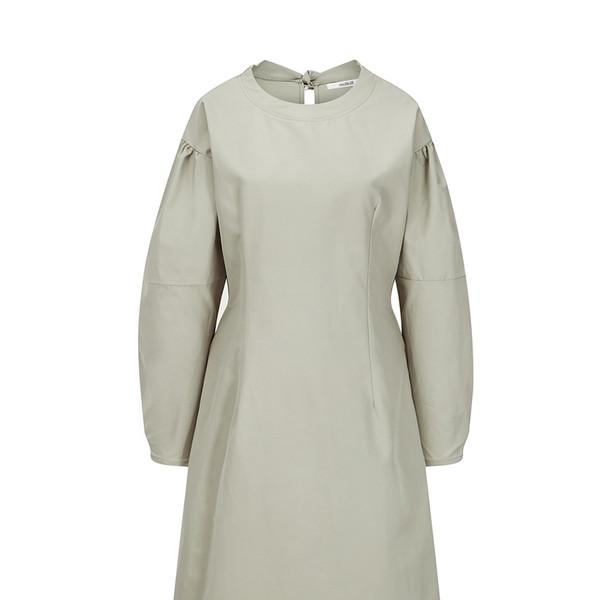 Angie Ribbon Dress [Beige]