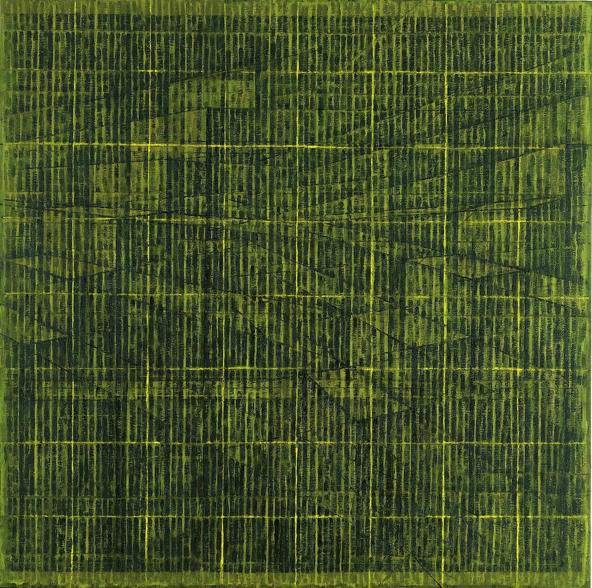 """""""풍경 9716"""" / 1997 / 160x160cm, Oil on Canvas"""