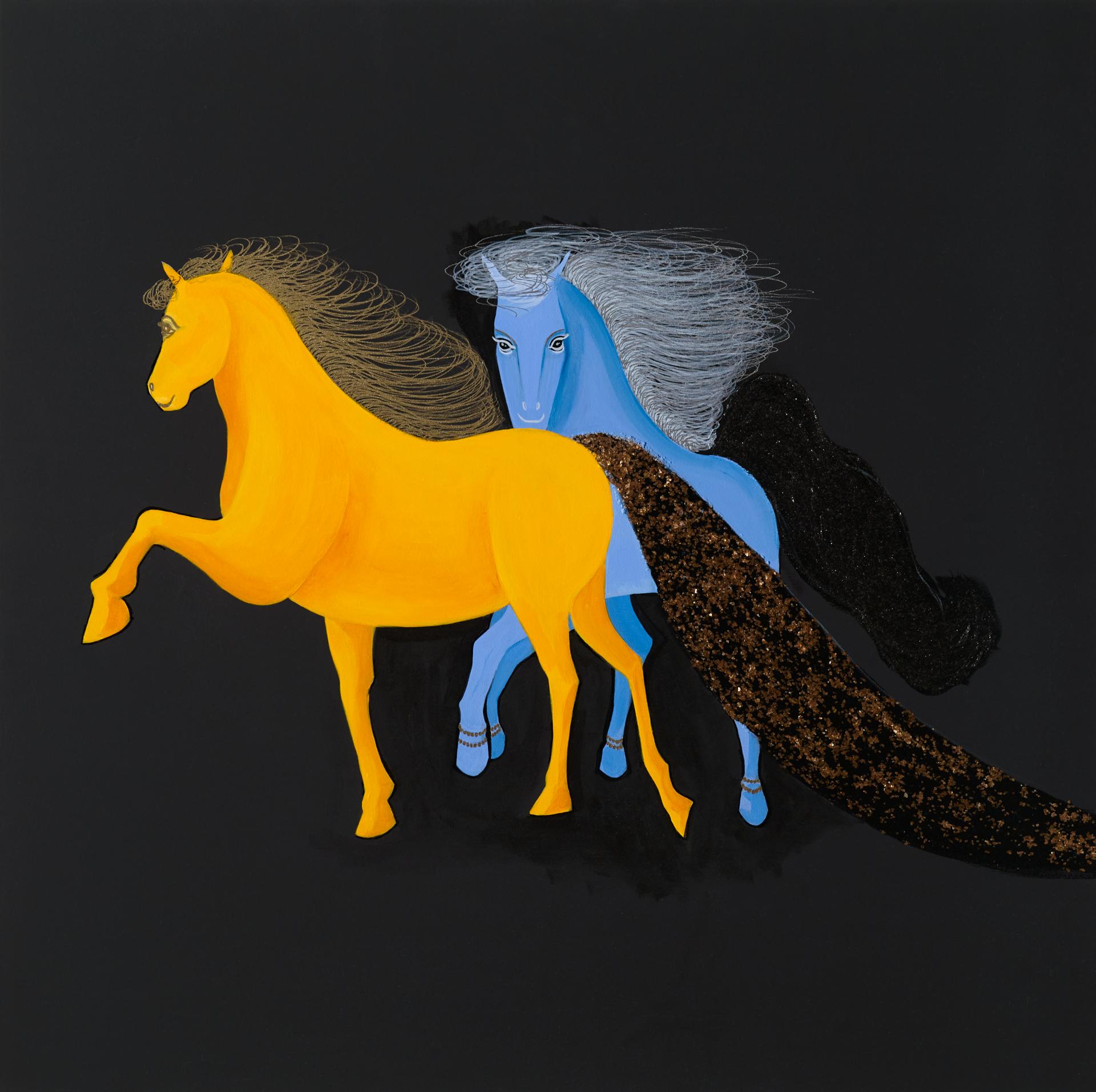 """""""어떤 사랑"""" / acrylic on canvas / 90 X 90 (cm)"""