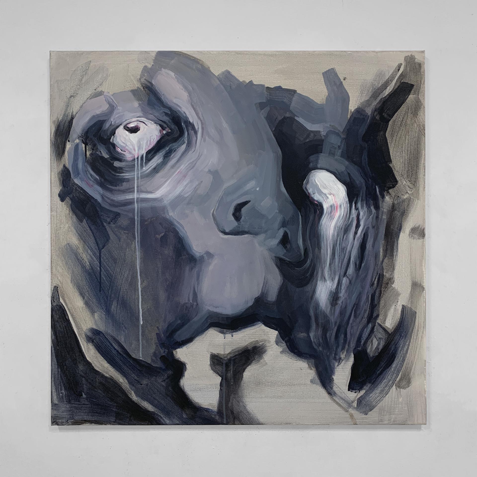 """Sleepless Nights"" / 73x73cm / Acrylic on canvas / 2020"