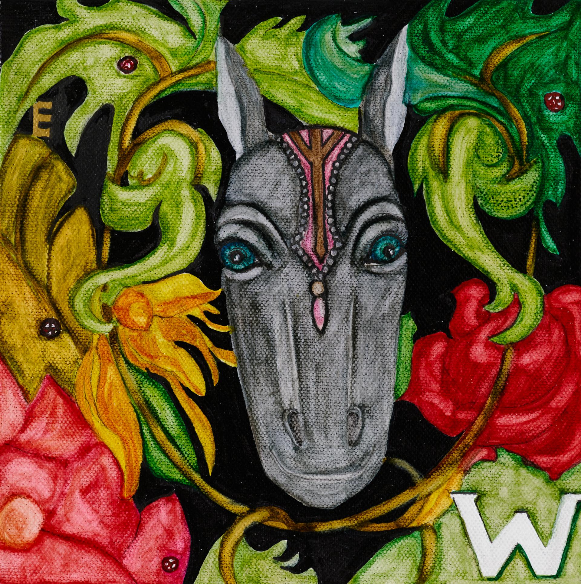 """""""WE"""" / acrylic on canvas / 20 X20(cm)"""