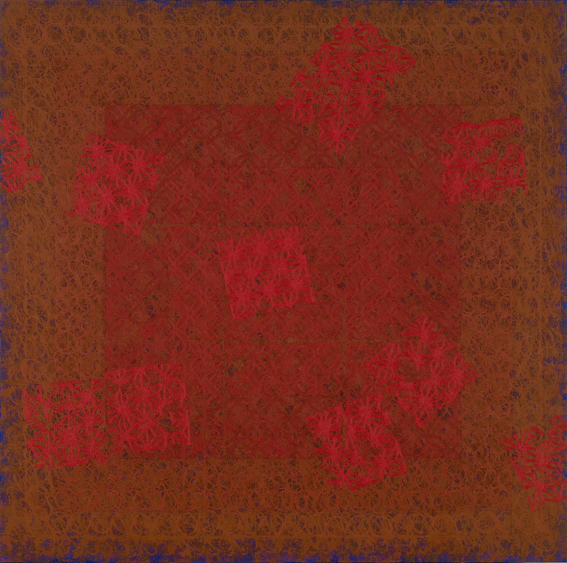 """""""붉은 종이꽃이 있는 풍경 """" / 2008 / 180x180cm, Oil on Canvas"""