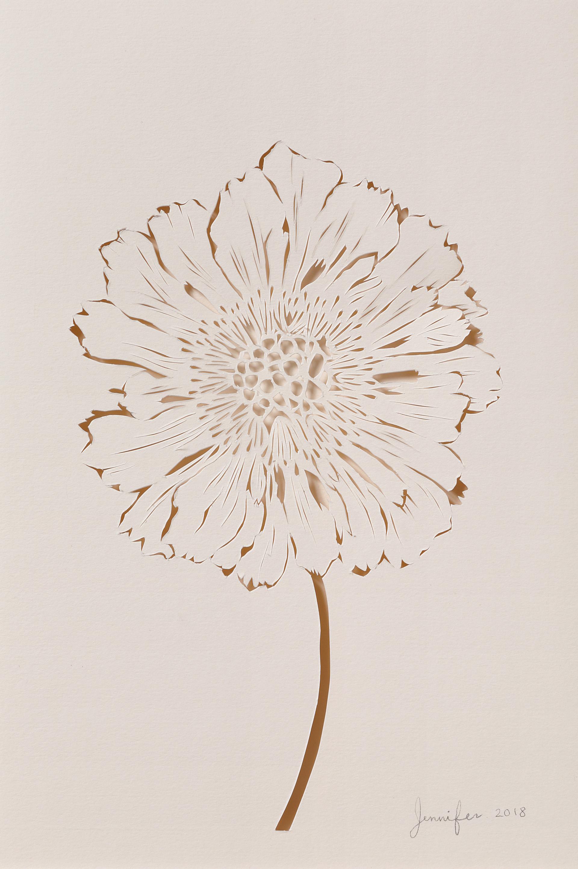 """Untitled"" / paper / papercutting /2018"