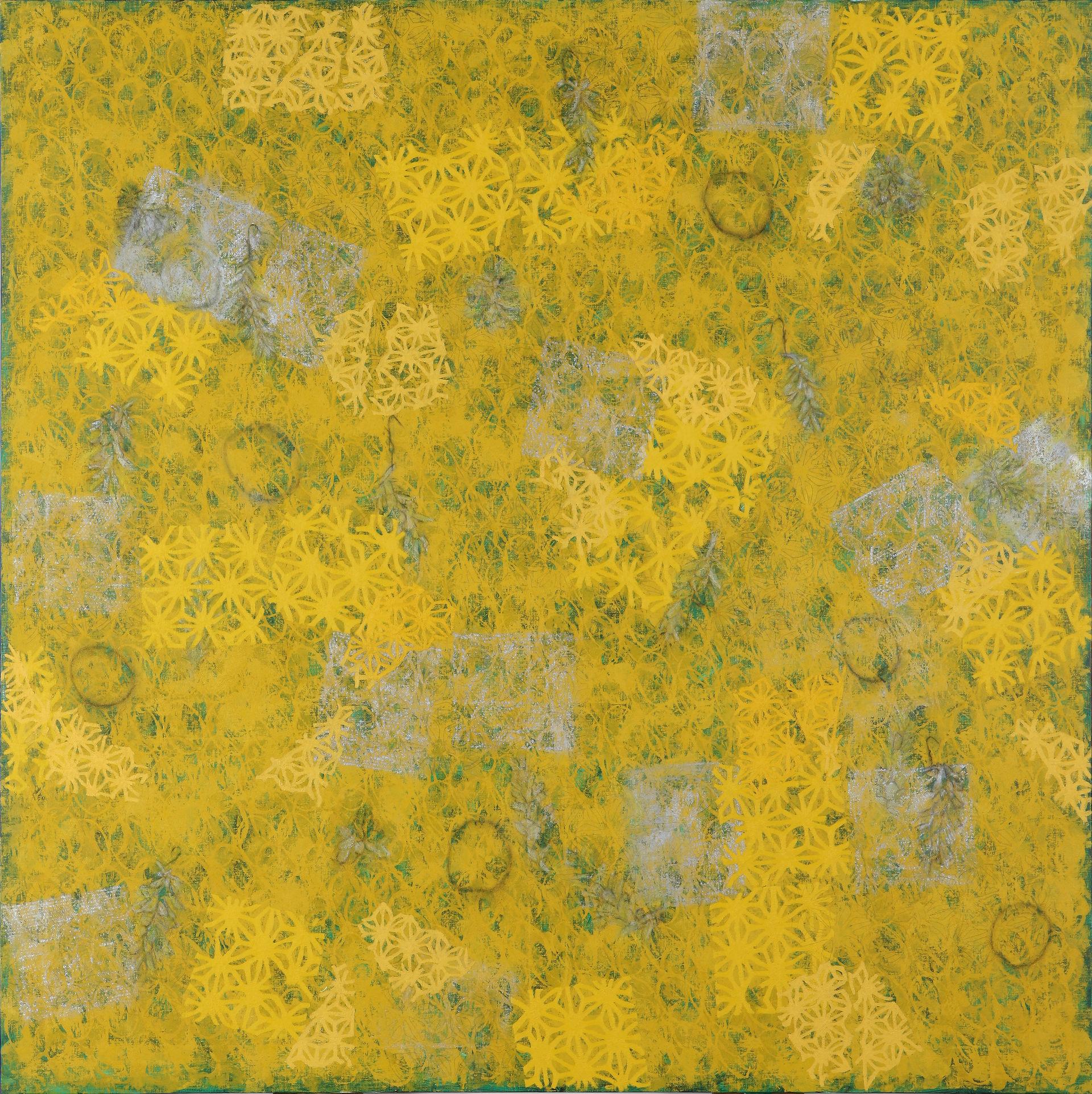 """""""종이꽃이 있는 풍경"""" / 2011 / 200x200cm, Oil & Charcoal on Canvas"""