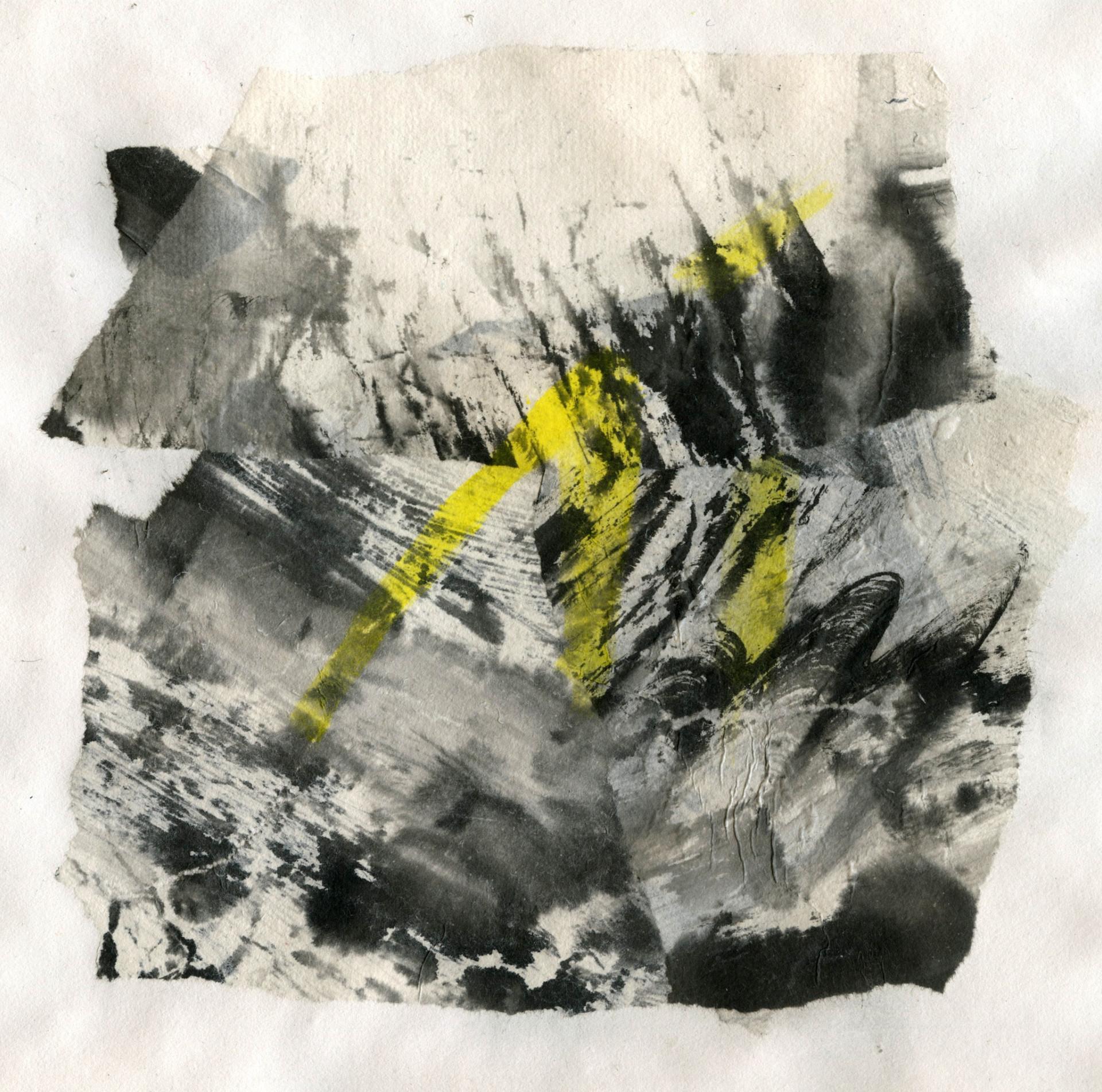 """Yellow bridge series I"" / 2013 / Ink on paper"